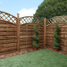 Mercia 6ft High 1800mm Mercia Newark Pressure Treated Fence Panels With Integrated Trellis Convex Arched Elbec Garden Buildings