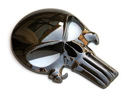 Large 5 3d Metal Decal Sticker Punisher Skull For Car Truck And Motorcycle Punisher Skull Punisher 3d Metal
