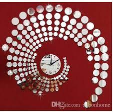 3d Circle Mirror Wall Stickers Large Decorative Wall Clocks Home Living Room Clock Wallpaper Murals Plastic Mirror Clock Decal Funky Clocks Funky Wall Clock From Sabonhome 27 64 Dhgate Com