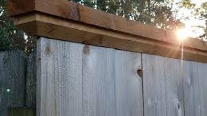 Trim Your Fence With Cap Board Youtube