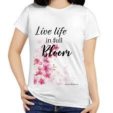 jual kaos tshirt dengan gbr bunga dan quote print kaos wanita
