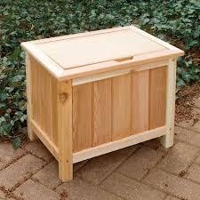 outdoor storage box wooden garden