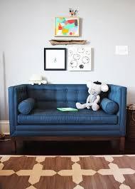 This Sofa Is Gorgeous Lampert Loveseat By Jonathan Adler Look Linger Love Nursery Room Tour Mini Sofa Kids Room