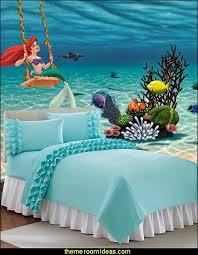 Ariel Wall Decal Underwater Wall Mural Ruffled Bedding Little Mermaid Ariel Theme Bedroom M Girl Bedroom Designs Little Mermaid Bedroom Mermaid Decor Bedroom