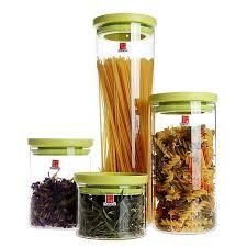 stackable borosilicate glass food