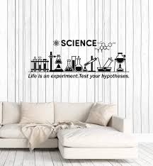 Classroom Wall Decal Science Inspire Chemical Lab School Decor Sticker Wallstickers4you