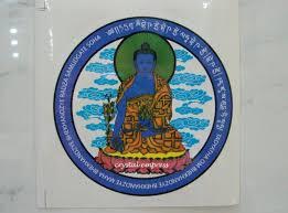 2016 Medicine Buddha Window Sticker 2 Pieces Paper Crystal Empress Feng Shui Store