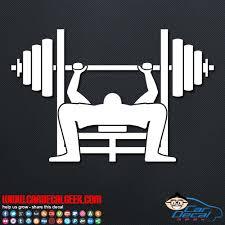 Bench Press Bodybuilding Vinyl Car Wall Decal Sticker