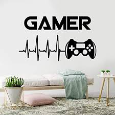 Amazon Com Wewinle Game Wall Stickers For Kids Gamer Poster Murals Wall Decals For Boys Room Bedroom Living Room Home Decor Decal Game 005 Kitchen Dining