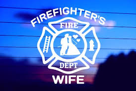 Firefighter S Wife Car Decal Sticker