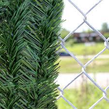4 Chain Link Fence Forevergreen Hedge Slats Hedge Slats Privacy Slat King