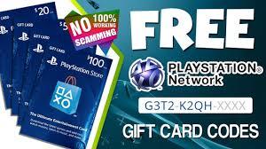 psn gift card codes free psn codes