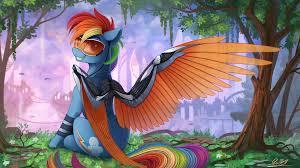 anime dragon my little pony rainbow