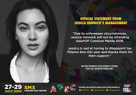Jessica Henwick cancels appearance in APCC 2018 – The Con Artists