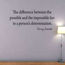 The Difference Between The Possible Tommy Lasorda Baseball Wall Decal Quote Wall Decal
