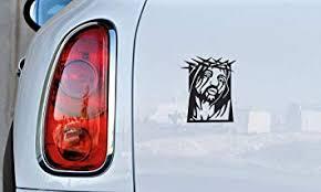 Amazon Com Jesus Crown Of Thorns Car Vinyl Sticker Decal Bumper Sticker For Auto Cars Trucks Walls Windows And More Black Automotive