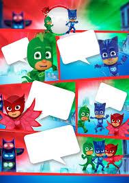 Pj Masks Free Printable Invitations Heroes En Pijamas Crear