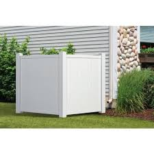 Outdoor Essentials Accent 4 Ft H X 3 5 Ft W White Vinyl Flat Top Fence Panel In The Vinyl Fence Panels Department At Lowes Com