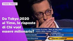 Da Tokyo 2020 al Time, le risposte di Chi vuol essere milionario ...