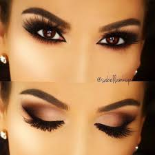 smokey eye makeup for brown eyes cat