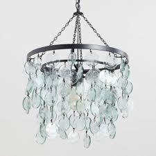 aqua dd sea glass disc pendant lamp