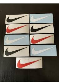 Nike Swoosh Logo Vinyl Decals 9 Pack Die Cut No Background Etsy