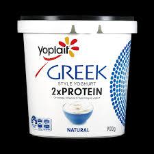 greek style 2x protein natural yoplait