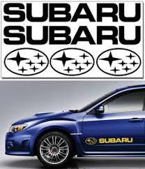5 X Subaru Vinyl Decals Set 2 X 580 75mm 3 X 190 110mm Stickers 13 Colours Ebay