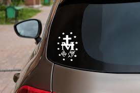 Miraculous Medal Vinyl Automobile Decal Laptop Decal Etsy