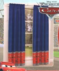 Disney Cars Lightning Mcqueen Blue Red Pair Rod Pocket Curtains Licensed In Home Garden Disney Cars Bedroom Decor Disney Cars Room Lightning Mcqueen Bedroom