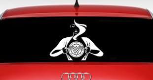 Wonder Woman Inspired Car Window Decal Dc Comics Character Inspired Car Decal Ebay Car Window Decals Dc Comics Characters Comic Character