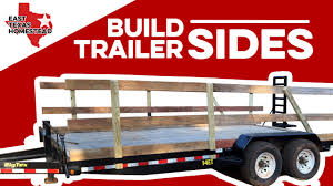How To Build Wood Sides For Utility Trailer Diy Homesteading Videos Easttexashomestead Youtube