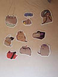Instock Pusheen Cat Cute Tumblr Stickers Design Craft Art Prints On Carousell