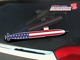 Submarine Usa Flag Wipertags Wiper Covers Attach For Rear Wiper Blade Wipertags