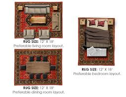 standard rug sizes guide chart