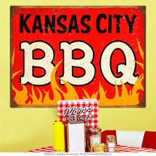 Kansas City Bbq Southern Barbecue Wall Decal At Retro Planet