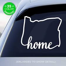 Amazon Com Oregon State Home Decal Or Home Car Vinyl Sticker Add An Optional Heart Over Portland Eugene Salem Or Bend Made With Outdoor Vinyl Handmade