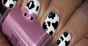 funny cow nail art design stylish eve