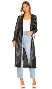 kendall kylie leather duster jacket