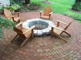 love the brick patio but the fire pit