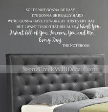 Family Decal The Notebook Quotes Vinyl Wall Decals Wall Decor Etsy