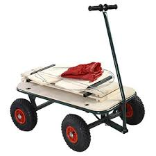 china wooden garden cart with pneumatic