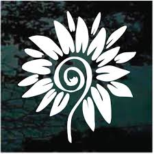 Sunflower Bloom Decals Stickers Decal Junky