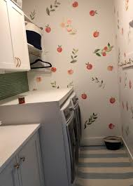 Built A Countertop For My Washer And Dryer Put Up A Backsplash And Some Decals Feels Brand New Laundry Room In Seattle Amateurroomporn