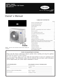 carrier 38 40grq owner s manual manualzz