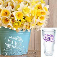 Mother Vinyl Decal Diy Tervis Yeti Cup Decals Mother S Day Gift Ideas