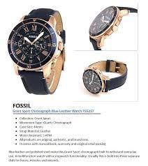 fossil grant sport chronograph blue