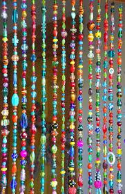 colorful bohemian glass bead curtain