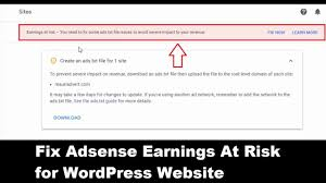 fix adsense error for wordpress