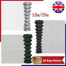 Garden Pvc Chain Link Fence Fencing Roll Galvanized Steel Straining Wire 5ft 8ft Ebay